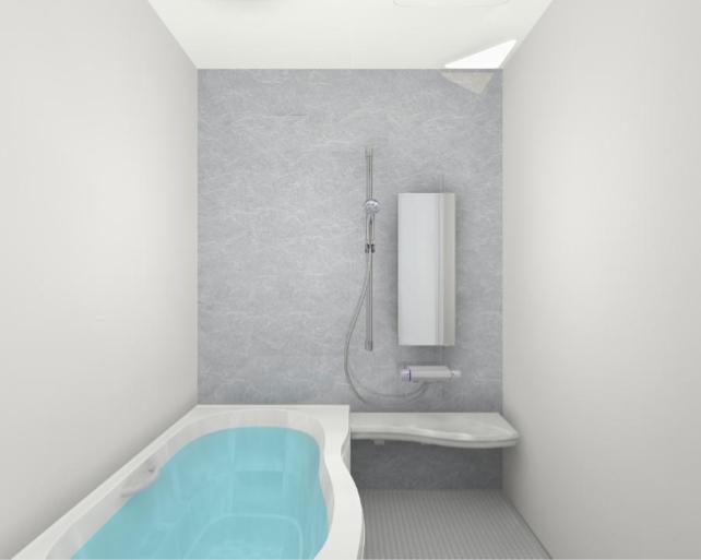 LIXILのアライズ「Zタイプ」 グリジオセラドン 丸洗いカウンター 1600ロング浴槽 マグネット 磁石