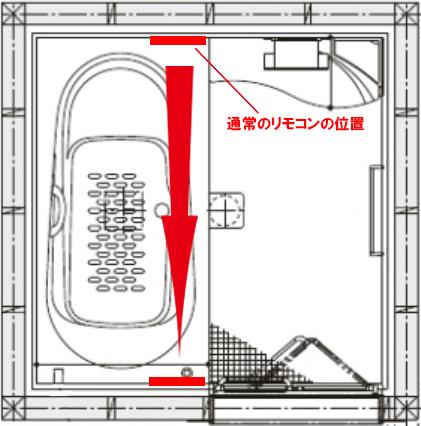 エコキュートのリモコンの位置 浴室優先